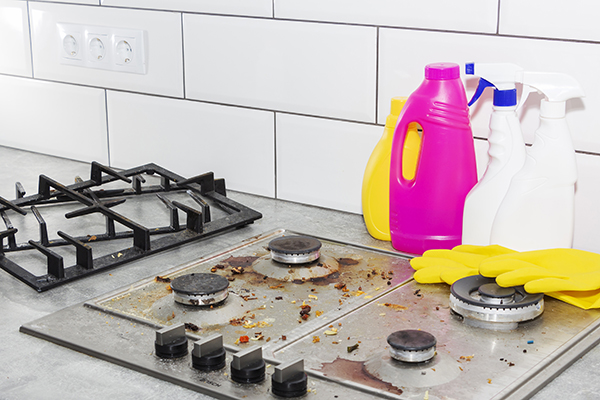 how to clean a range