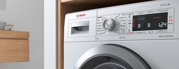 bosch washing machine leaves clothes wet